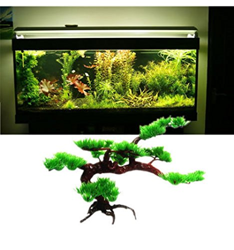 Angelwing Aquarium Artificial Plastic Bonsai Tree Plant Brance 9.5