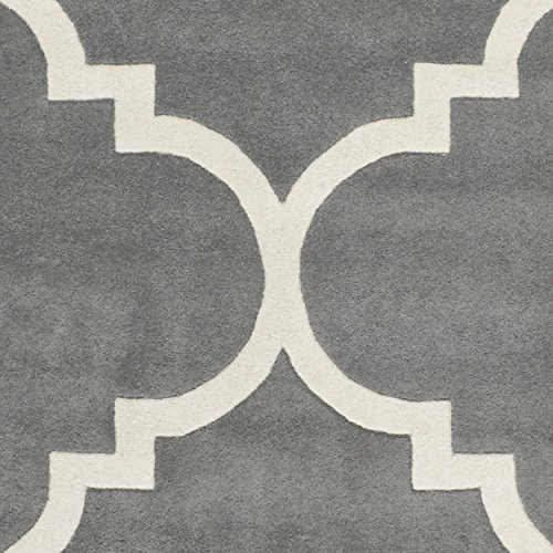 683726576488 - Safavieh Chatham Collection CHT730D Handmade Dark Grey and Ivory Premium Wool Area Rug (11' x 15') carousel main 2