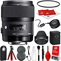 Sigma 35mm f/1.4 Art DG HSM Lens for Canon DSLR Cameras w/ USB Dock Global Vision Bundle