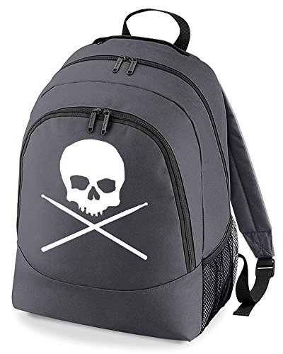 Drumstick Cross Logo Sticks Unisex Backpack Charcoal Drummer Skull And qtSzzU
