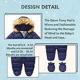 Xifamniy Baby Winter Snowsuit Coat Romper Outwear