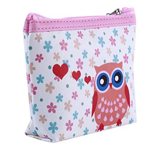 LZIYAN Cute Coin Purse Cartoon Owl Pattern Coin Purse Clutch Bag Portable Small Wallet With Zipper Storage Bag Creative Gift For Women,1# by LZIYAN (Image #2)