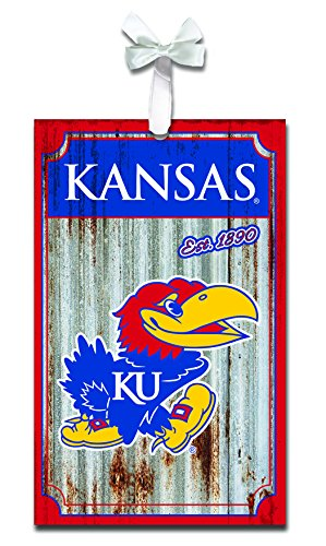 Team Sports America Kansas Jayhawks Corrugated Metal -