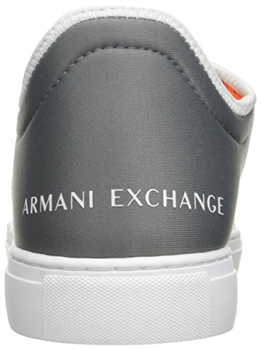 White Men Grey Exchange Armani Exchange Lace Armani X Sneaker Fashion Castor Pu Lycra A qtwEOPW