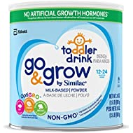 Go & Grow By Similac Non-GMO Milk Based Toddler Drink, Large Size Powder, 24 ounces (Pack of 6) (Packaging May Vary)