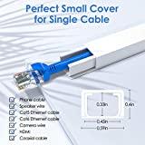 """One-Cord Channel Cable Concealer - 125"""" Cord Cover"""