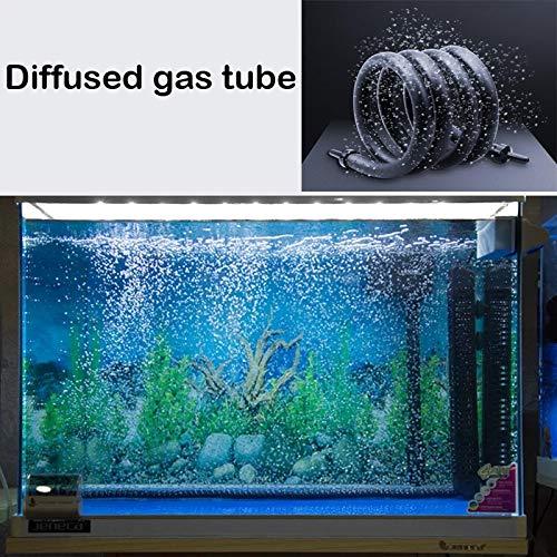 Oxygenation Air Stone Bubble Air Pump Tube Hose For Aquariums Mini Fish Tank Pump Oxygen Tube Aquarium Accessories Decoration   White, 30CM