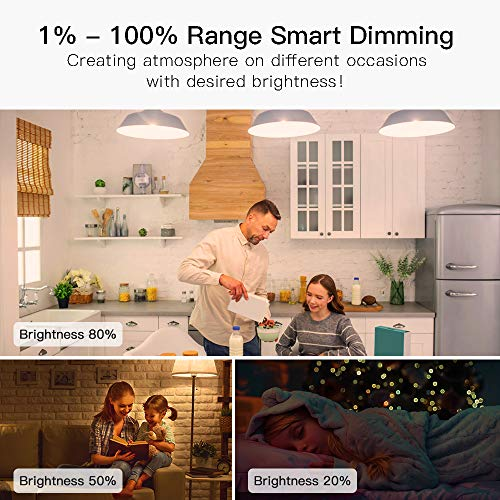 E26 A19 9W No Hub Required 800LM 2.4GHz WiFi Smart Light Bulb Treatlife Smart Bulb Tunable White Dimmable Works with Alexa and Google Assistant LED Light Bulb 60W Equivalent Smart Home