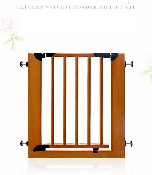 AA-SS-Safety Door Madera Maciza Puerta de Seguridad para niños Bar Escalera Valla bebé Mascota Aislamiento Puerta Valla Valla bebé Puerta barandilla: Amazon.es: Hogar
