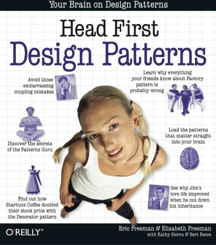 Head First Design Patterns: A Brain-Friendly Guide [Eric Freeman - Bert Bates - Kathy Sierra - Elisabeth Robson] (Tapa Blanda)