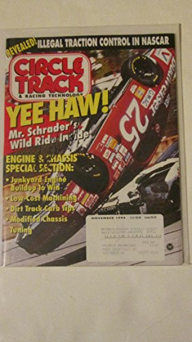 Circle Track Magazine (Circle Track Magazine November 1995 (Single Issue Magazine) Kenny Schrader)
