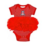 Two Feet Ahead NCAA Arizona Wildcats Children Girls Pin Dot Tutu Creeper,6 mo,Red