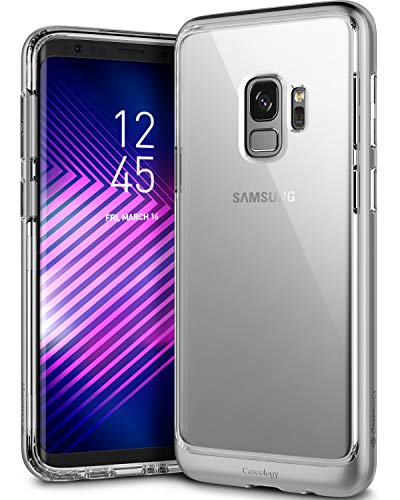 Caseology [Skyfall Series] Galaxy S9 Case - [Clear Back/Premium Finish] - Silver Matte