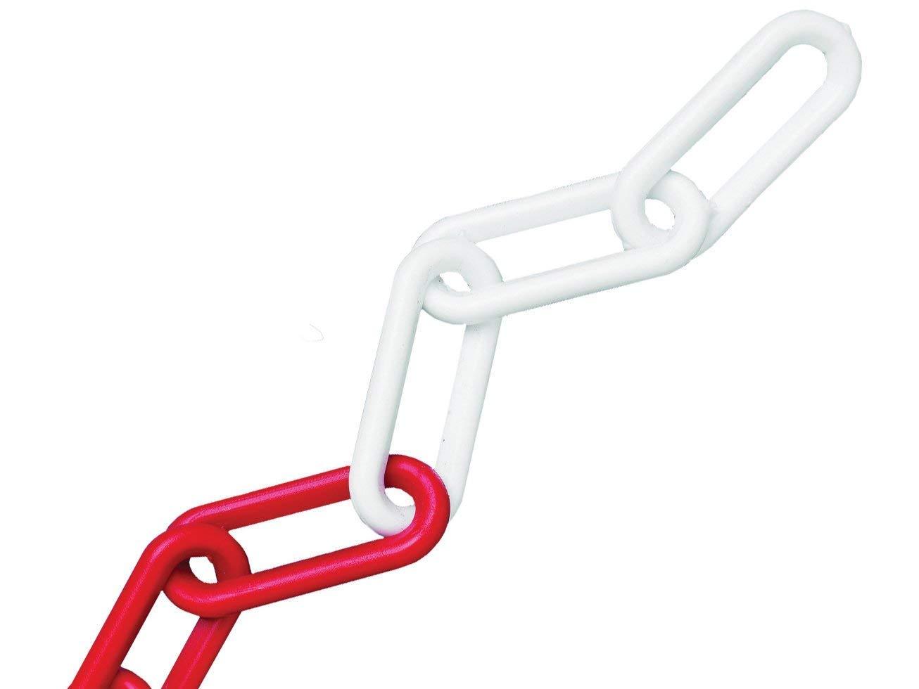 Faithfull 8mm 12.5m Plastic Chain - Red/White FAICHPRW812C