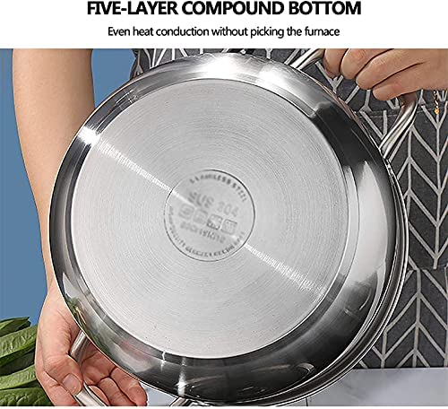 """51u3SvSMOES. AC Pans for cooking Stainless Steel Steamer Pot Steamer Food Steamer MultiLayer Pot with Handles on Both Sides Pot with Lid for Kitchen ThreeLayer 22cm    """"Welcome to our mallHappy shopping!Our products have been thoroughly tested, inspected and packaged before delivery.If you have any questions, please feel free to contact us so that we can provide you with the best service.""""NJOLG is committed to providing premium and long-lasting cookware, which inspires your passion for cooking.Are you sick and tired of your old steamer that keeps ruining your hard work? Looking for a solid steamer set that does the jobOur steamer can meet your complete cooking needs! You can use it as a pot or combine these components in different steamers. And make sure our steamer uses high quality stainless steel, providing you with a durable and healthy cooking tool. The ebb design of the steaming grill and the multilayer composite material bottom make the food evenly heated and delicious. It is also worth mentioning that the steamer can be compatible with a variety of stoves.Stainless Steel Steamer Pot, Steamer Food Steamer Multilayer Pot with Handles on Both Sides, Pot with Lid, for KitchenProduct Name: Multipurpose steamerProduct Material: SUS304 Stainless SteelProduct Layers: Single / Double / Three LayersProduct Specification: 22/24/26 / 28cmSurface Technology: Wire Drawing Polishing TreatmentFeatures: nonstick pan, fast heat conduction, less oily smoke, energy saving and high efficiencyScope of application: restaurants, hotels, familiesNote: if you have any questions about the order, please contact us through Amazon. We will get back to you within 24 hours. If you need more styles, you can search our LKDF brand. You will have a satisfactory answer. good day.Chaptersdescriptions off, selectedcaptions off, selectedThis is a modal window.If you are not satisfied with our products, please feel free to contact us, we will contact you within 24 hours. For more related product de"""