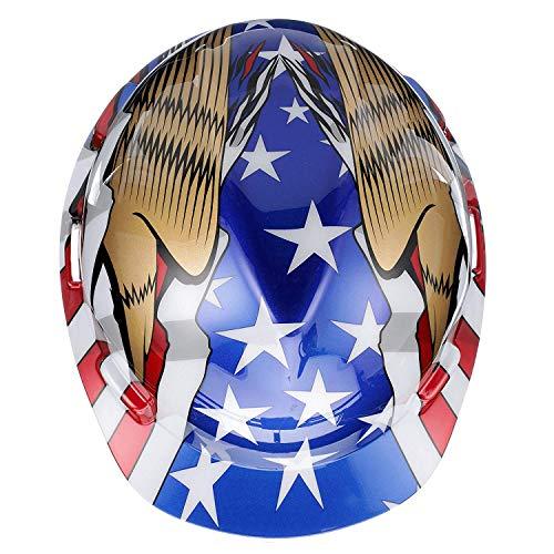 MSA 10052947 V-Gard Hard Hat Front Brim with Ratchet Suspension, Standard, American Flag w/ 2 Eagles (36 Pack) by ISP by MSA (Image #4)