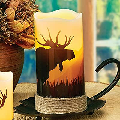 Moose LED Candle - Rustic Decor: Home & Kitchen