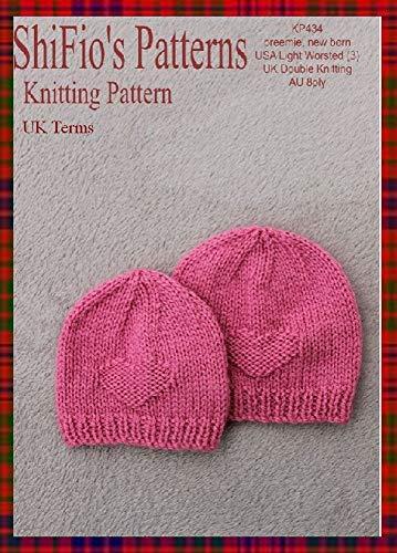 Amazon Knitting Pattern Kp434 Preemie Newborn Beanies Uk