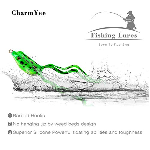 CharmYee Bass Trout Fishing Lures Kit Set 133Pcs Fishing Baits Tackle Including Multi Jointed swimbaits, VIB, Minnow, Spinnerbaits, Soft Plastic Worms, Jigs, Topwater Lures Frog and More Fishing Gear