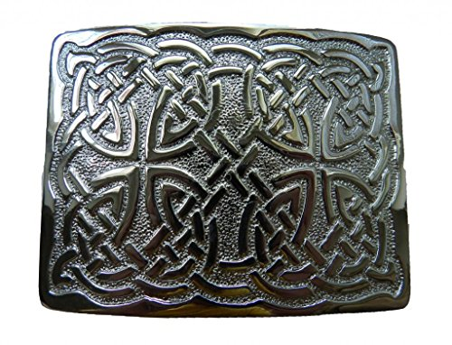 Scottish Kilt belt buckle #29 chrome finish (Chrome)