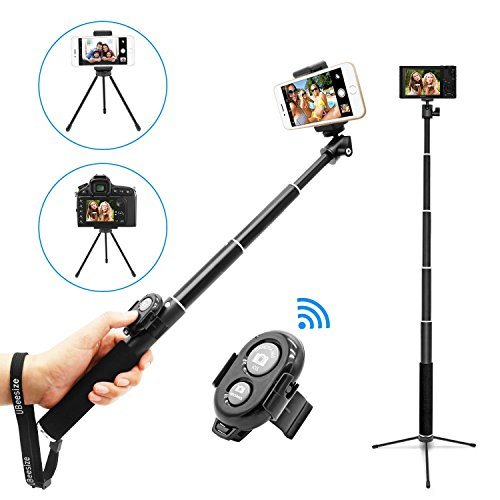 Selfie Stick, UBeesize Extendable Monopod with Tripod Stand and Wireless Shutter Remote for iPhone, Samsung, other Android phones, digital cameras and GoPro by UBeesize (Image #7)