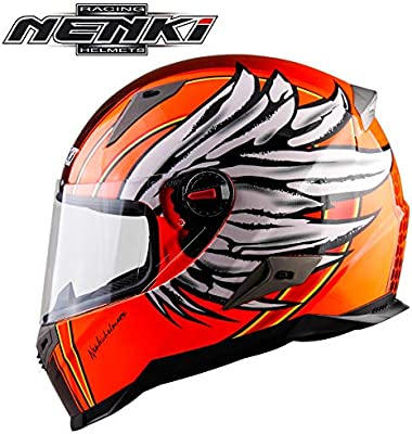XINKUE - Casco de Moto Personalizado Angel Wings, Casco Integral ...