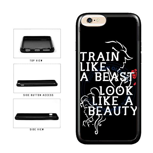 BleuReign(TM) Train Like A Beast Look Like A Beauty TPU RUBBER SILICONE Phone Case Back Cover For Apple iPhone 6 Plus and iPhone 6s Plus (5.5 Inches Screen) ()