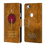 Official HBO Game of Thrones Martell Dark Distressed Sigils Leather Book Wallet Case Cover for Google Pixel 2