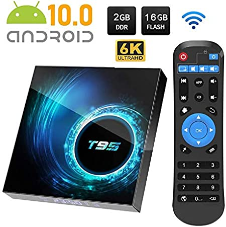 Android 10.0 TV Box, T95 Smart TV Box 4GB RAM / 64GB ROM Allwinnner H616 Quad Core Soporte 2.4Ghz WiFi 6K HDMI Media Player,2gb+16gb: Amazon.es: Hogar