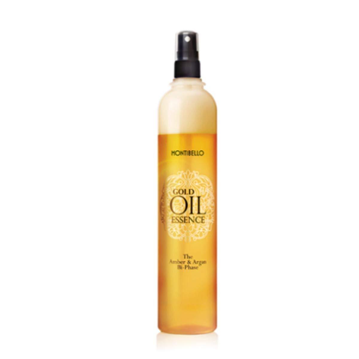 Montibel-Lo Gold Oil Essence Amber y Argan, Aceite Capilar Bifásica, 400 ml