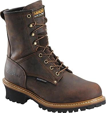 Amazon.com | Carolina Logger Boot Soft Toe Waterproof Uninsulated ...