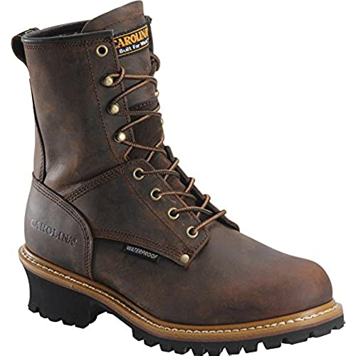 Carolina Boots: Men's 8 Inch Waterproof Logger Boots CA8821