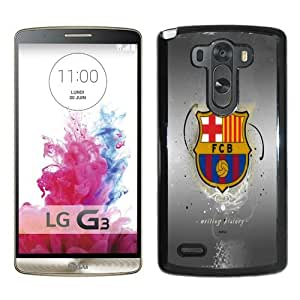 Fashionable And Unique Designed Case For LG G3 Phone Case With Fc Barcelona 2 Black