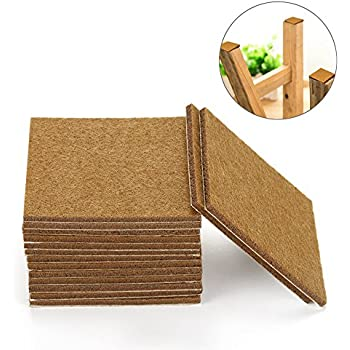 Littlegrass Felt Furniture Pads for Hardwood Floors Squre Selfadhesive Protectors Heavy Duty for Couch Wood,Chair, Wood Floors 20pcs