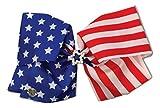 Jojo Siwa ''Rhinestone Star'' American Flag Large Bow