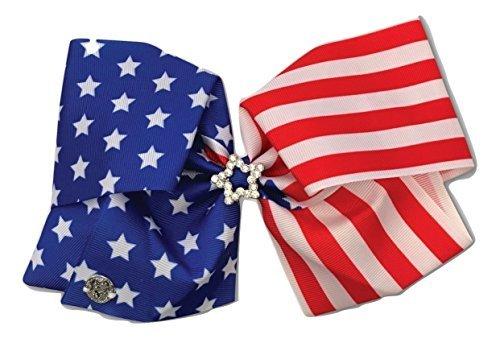 Jojo Siwa ''Rhinestone Star'' American Flag Large Bow by Jojo Siwa