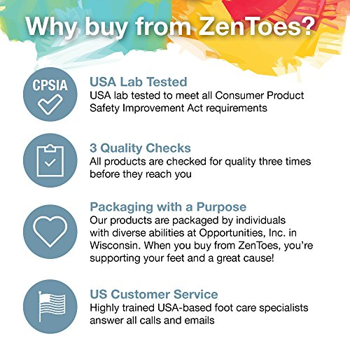 ZenToes Hammer Toe Straightener and Corrector 4 Pack Soft Gel Crests Splints | Reduce Foot Pain, Prevent Overlap | Flexible Footcare Treatment | Stain, Odor Resistant (Beige) by ZenToes (Image #5)
