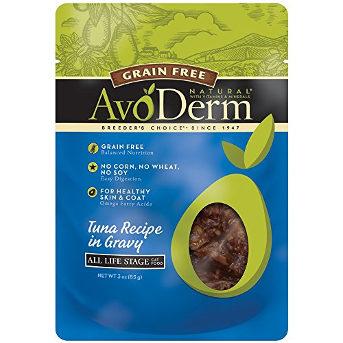 AvoDerm Natural Grain Free Cat Food, 3-Ounce, Tuna, Case of 24