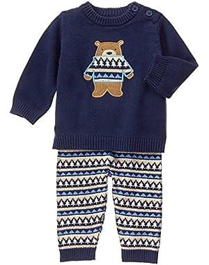 Baby Boy's Fair Isle 2 Piece Sweater Set