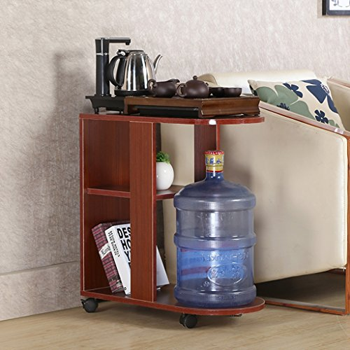 2 Drawer Teak Nightstand - WGH DESK Modern Table Tea Table Bedroom Kitchen Shelves Bedside Table You Move A Small Coffee Table 408062cm (Color : Teak)