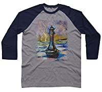 QUEEN OF CHESS Men's Raglan Sleeve Baseball Tee - Design By Humans