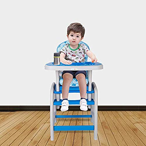 Dearbebe 3-in-1 Infant High Chair with Tray,Blue by Dearbebe (Image #3)