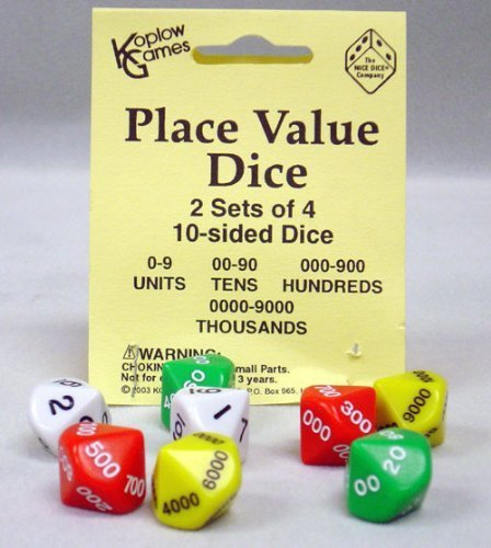 place value dice games