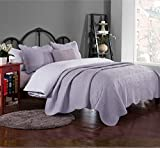 quilts king size purple - Brandream Romantic Cream White Purple Green Coverlet Quilt Set Queen King Size Embroidery Bedspread