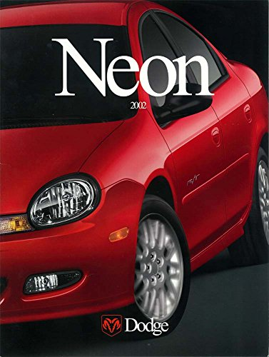 2002 Dodge Neon Sales Brochure Literature Book Colors Options Specifications
