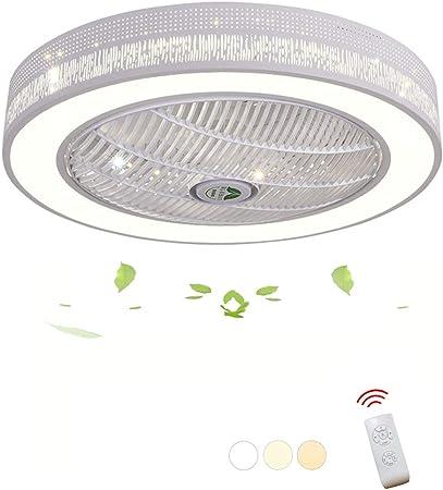 DOCJX LED Ventilateur De Plafond Créatif Moderne Plafonnier Dimmable Ventilateur Avec Éclairage Avec Télécommande Ventilateur De Plafond Silencieux
