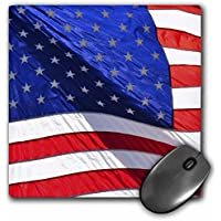 3D Rose Americana American FlagUsaPatrioticPhotography Matte Finish Mouse Pad - 8 x 8 - mp_53508_1