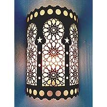 B195 Handmade Islamic Half Cylindrical Brass Wall Decor Sconce