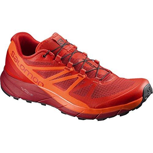 Salomon Sense Ride Trail Running Shoe - Men's Fiery Red/Scarlet Ibis/Red Dalhia, US 8.0/UK 7.5 by Salomon