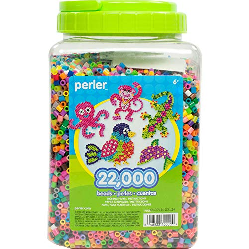 10 Paper Beads - Perler Beads Bulk Assorted Multicolor Fuse Beads for Kids Crafts, 22000 pcs